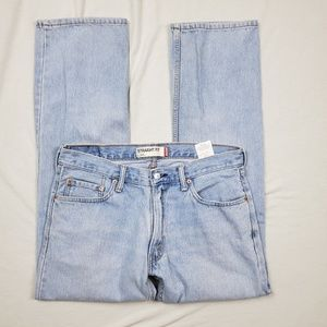 Levis Straight Fit 505 Light Blue Jeans 34X32